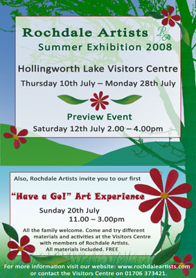 Hollingworth Lake Exhibition Poster