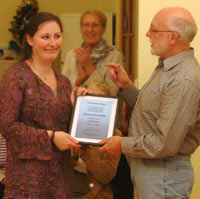 Stacey Coughlin presented Life Membership 2006